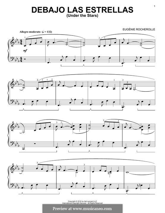 Debajo las Estrellas: Для фортепиано by Eugénie Rocherolle