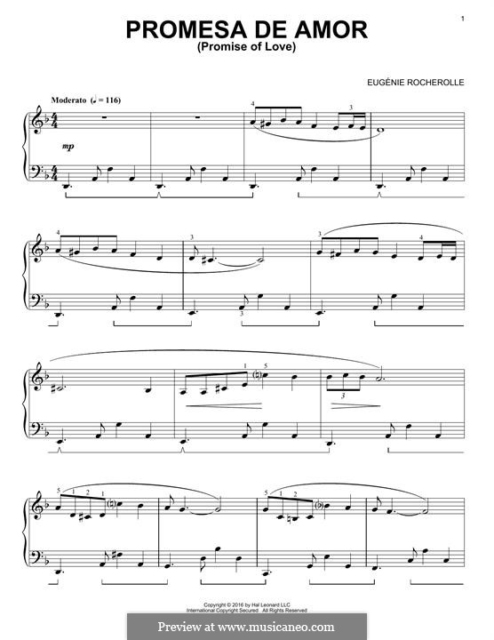 Promesa de Amor: Для фортепиано by Eugénie Rocherolle