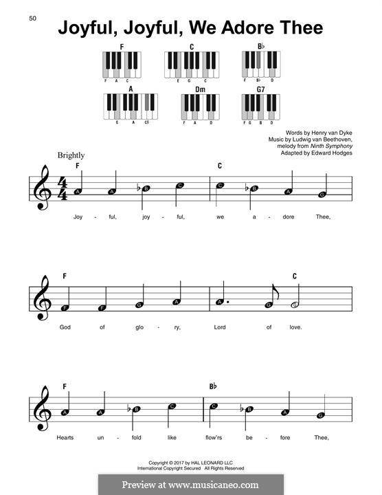 Ода к радости: Version for any instrument by Людвиг ван Бетховен