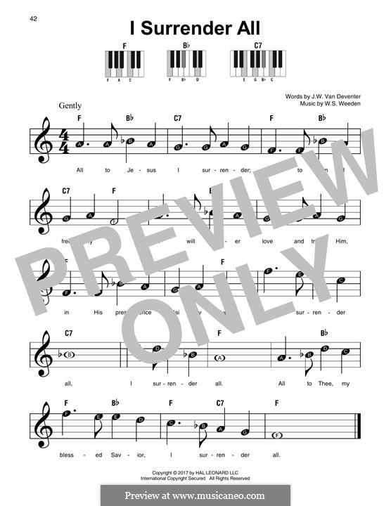 Всё Иисусу отдаю я: For any instrument by Winfield Scott Weeden