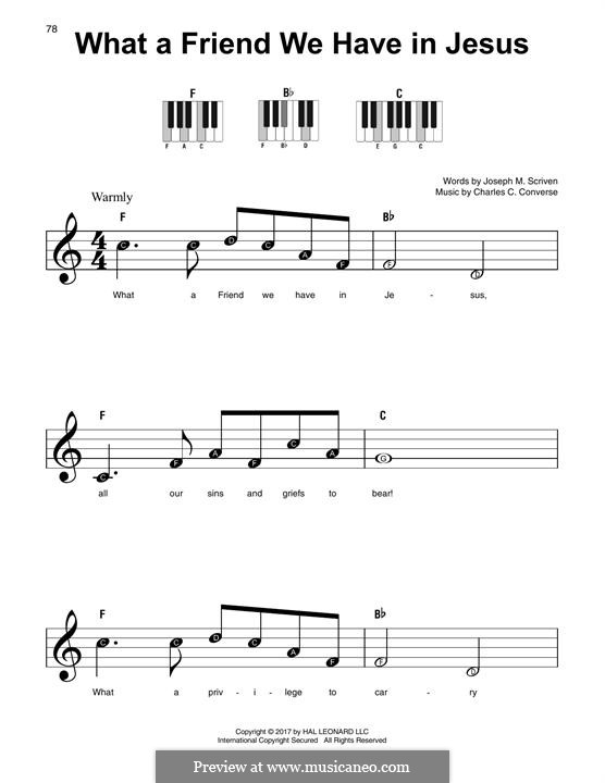 What a Friend We Have in Jesus (Printable): For any instrument by Charles Crozat Converse