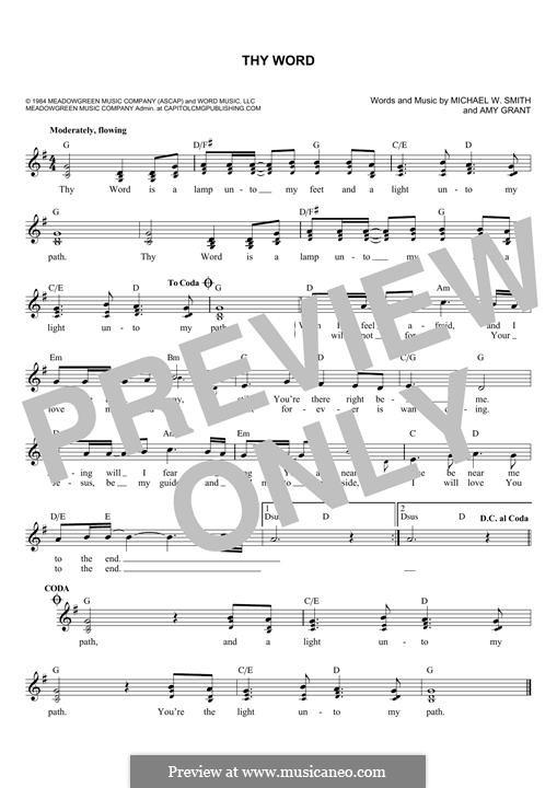 Thy Word: Мелодия by Amy Grant, Michael W. Smith