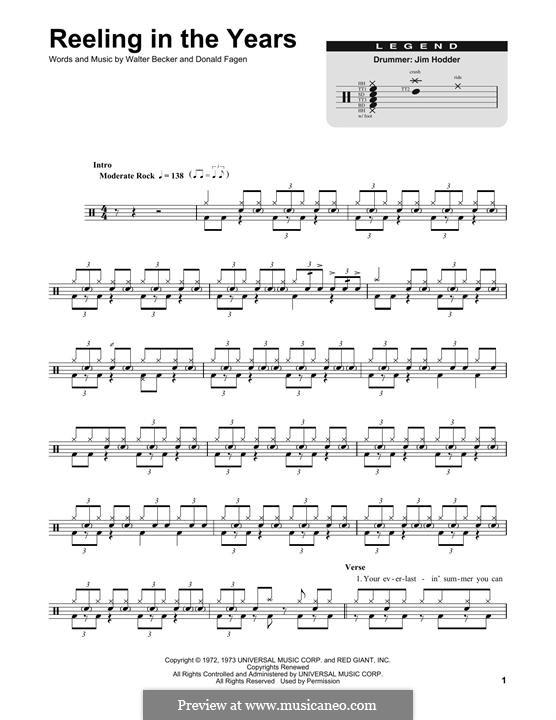 Reelin' in the Years (Steely Dan): Drum set by Donald Fagen, Walter Becker