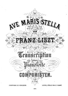 Ave maris stella, S.506: Ave maris stella by Франц Лист