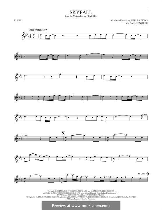 Instrumental version: Для флейты by Adele, Paul Epworth