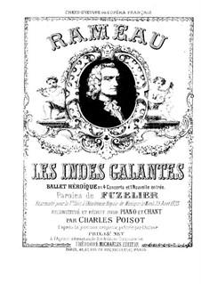 Галантная Индия, RCT 44: Клавир с вокальной партией by Жан-Филипп Рамо