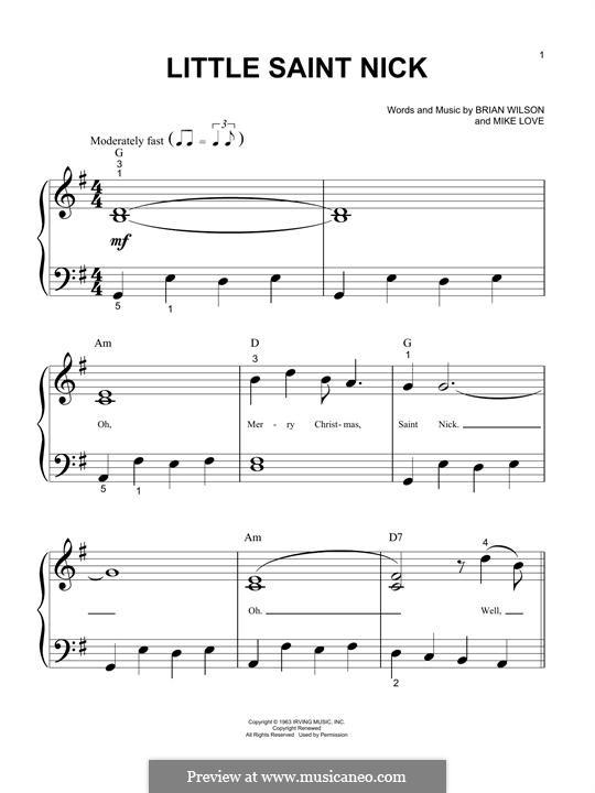 Little Saint Nick (The Beach Boys): Для фортепиано by Brian Wilson, Mike Love