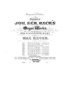 Прелюдия и фуга ми-бемоль мажор, BWV 552: Аранжировка для фортепиано by Иоганн Себастьян Бах