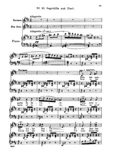 Сегидилья: For soprano or mezzo and piano (french/english) by Жорж Бизе