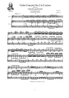 La stravaganza. Twelve Violin Concertos, Op.4: Violin Concerto No.2 in E Minor. Version for violin and piano, RV 279 by Антонио Вивальди