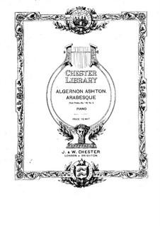 Четыре пьесы для фортепиано, Op.146: Для одного исполнителя by Алджернон Эштон