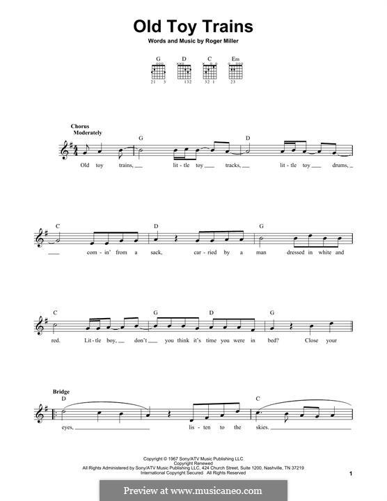 Old Toy Trains: Для гитары by Roger Miller
