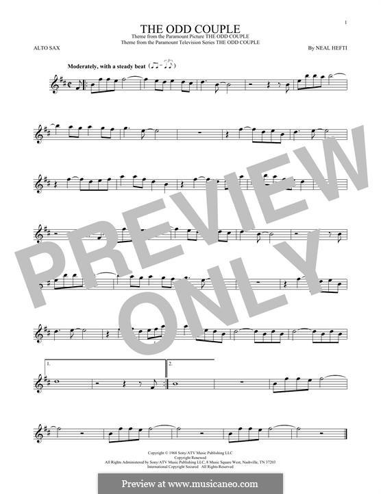 Theme from The Odd Couple: Для альтового саксофона by Neal Hefti