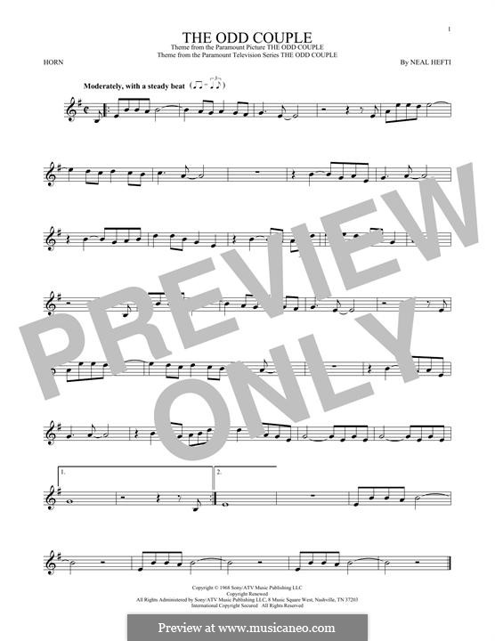 Theme from The Odd Couple: For horn by Neal Hefti