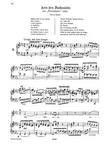 Radamisto, HWV12a: Ombra cara di mia sposa. Aria for soprano by Георг Фридрих Гендель