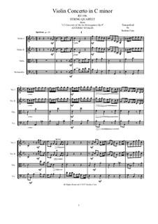 La stravaganza. Twelve Violin Concertos, Op.4: Violin Concerto No.10 in C Minor. Arrangement for string quartet, RV 196 by Антонио Вивальди
