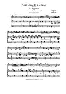 La stravaganza. Twelve Violin Concertos, Op.4: Violin Concerto No.10 in C Minor. Arrangement for violin and piano, RV 196 by Антонио Вивальди