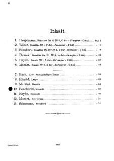 Струнный квинтет до мажор: Менуэт. Версия для скрипки и фортепиано by Луиджи Боккерини