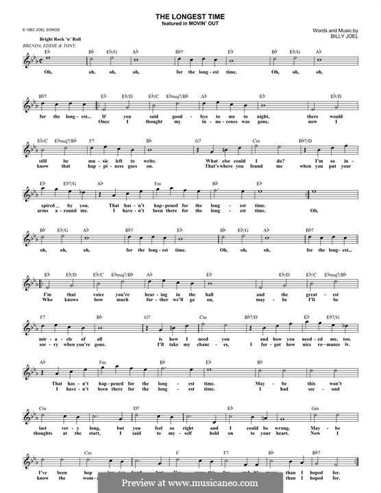 The Longest Time: Мелодия by Billy Joel