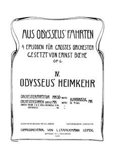 Aus Odysseus' Fahrten, Op.6: Teil IV Odysseus' Heimkeh by Эрнст Бох