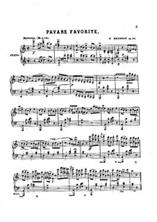 Pavane Favorite de Louis XIV, Op.100: Для фортепиано by Фредерик Бриссон