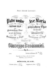 Аве Мария, Op.3: Партитура by Джузеппе Буонамичи