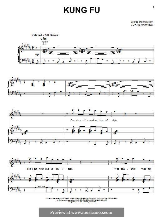 Kung Fu: Для голоса и фортепиано (или гитары) by Curtis Mayfield
