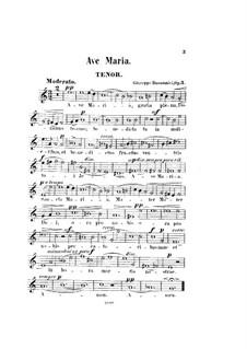 Аве Мария, Op.3: Партия тенора by Джузеппе Буонамичи