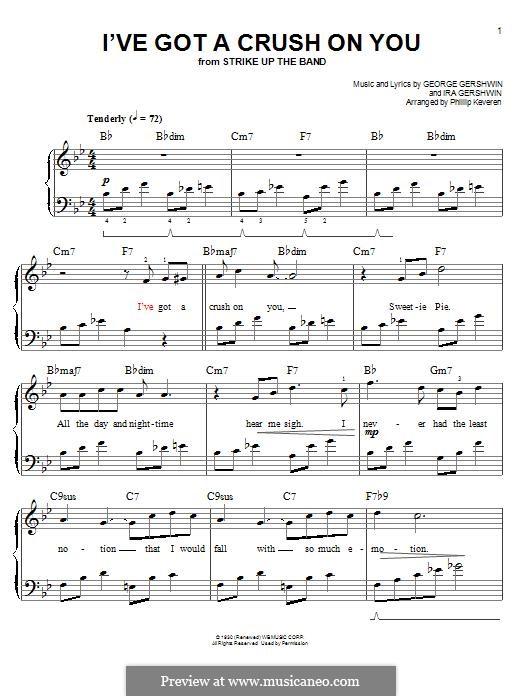 I've Got a Crush on You: Для фортепиано by Джордж Гершвин