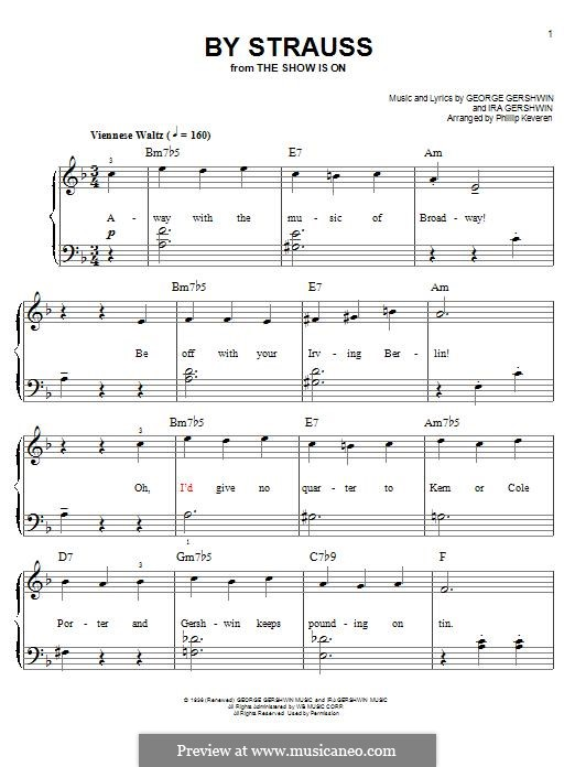 By Strauss: Для фортепиано by Джордж Гершвин