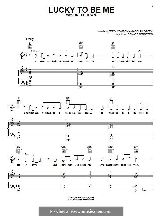 Lucky To Be Me: Для голоса и фортепиано (или гитары) by Леонард Бернстайн, Adolph Green