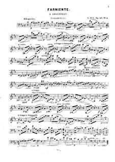 В Аржанто, Op.40: No.2 Сладкое безделье, для фортепианного трио – Партия виолончели by Цезарь Кюи