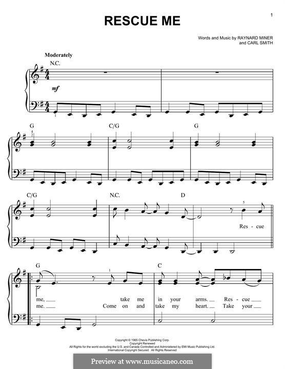 Rescue Me (Aretha Franklin): Для фортепиано by Carl Smith, Raynard Miner