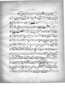 Два квартета для фортепиано и струнных, Op.224: Партия скрипки by Карл Черни