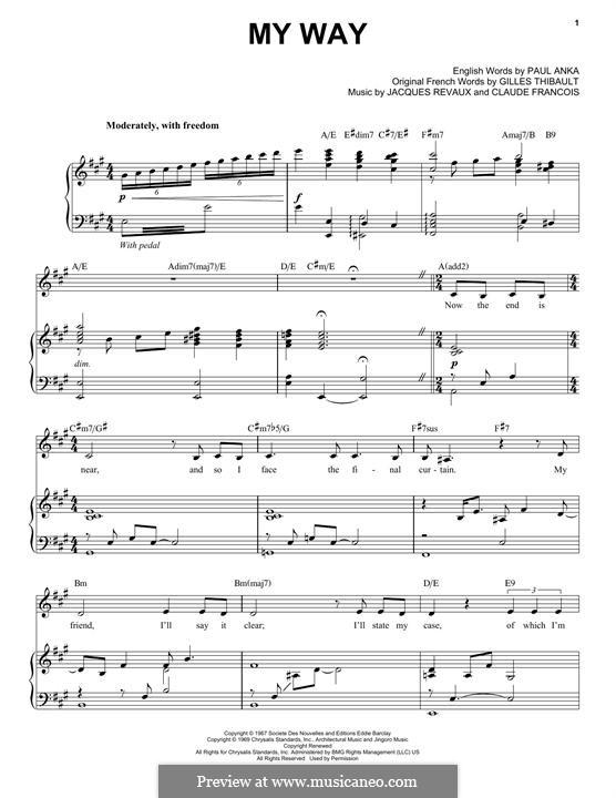 My Way: Для голоса и фортепиано (Frank Sinatra) by Claude Francois, Jacques Revaux