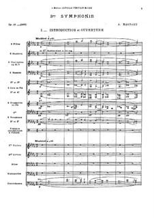 Симфония No.3 си-бемоль минор, Op.11: Симфония No.3 си-бемоль минор by Альберик Маньяр