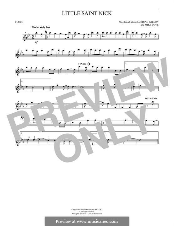 Little Saint Nick (The Beach Boys): Для флейты by Brian Wilson, Mike Love