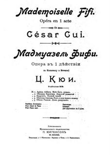 Мадмуазель Фифи: Клавир с вокальной партией by Цезарь Кюи