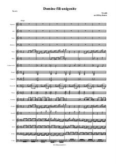 Domine fili unigenide: For choir and russian folk orchestra by Антонио Вивальди