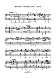 Sonata Movement In C Minor: Sonata Movement In C Minor by Lance Rann