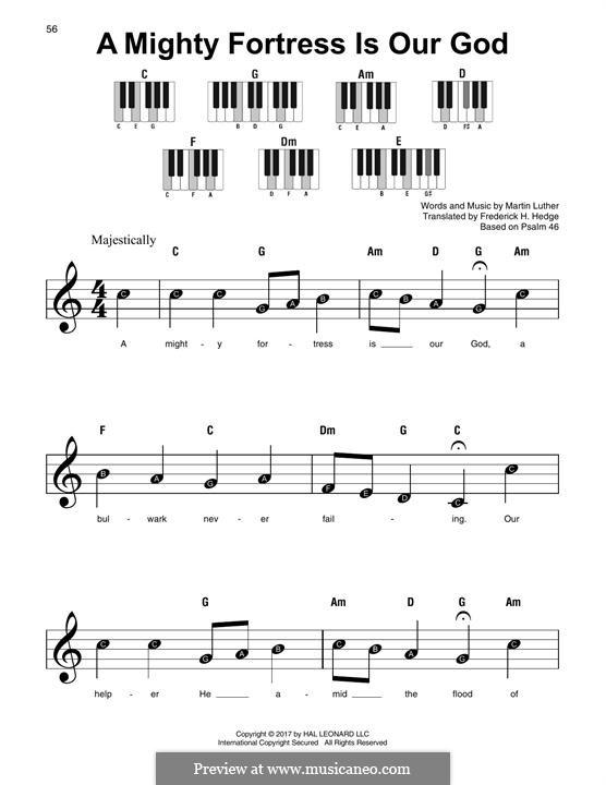 Наш Бог – могучая крепость: For any instrument by Мартин Лютер