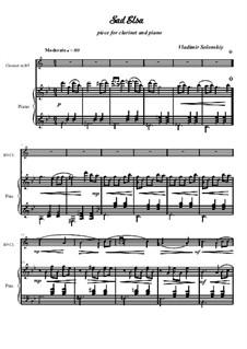 Грустная Эльза: Для кларнета и фортепиано by Владимир Солонский
