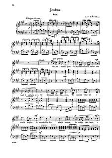 Иисус Навин, HWV 64: Oh! had I Jubal's lyre. Aria for soprano by Георг Фридрих Гендель