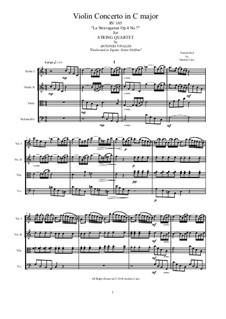 La stravaganza. Twelve Violin Concertos, Op.4: Violin Concerto No.7 in C Major. Arrangement for string quartet, RV 185 by Антонио Вивальди