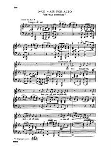 No.23 Он был презрен и умален пред людьми: For alto/countertenor and piano by Георг Фридрих Гендель
