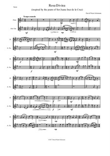 Rosa Divina: For flute and alto saxophone by Дэвид Соломонс