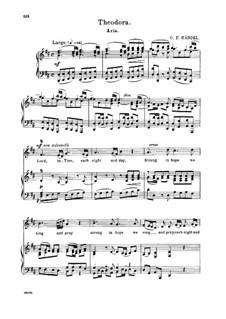 Теодора, HWV 68: Lord, to Thee, Each Night and Day. Aria for alto/countertenor by Георг Фридрих Гендель