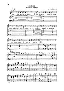 Иисус Навин, HWV 64: Heroes, when with glory burning. Recitative and Aria for alto/countertenor by Георг Фридрих Гендель