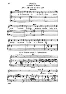 Самсон, HWV 57: Return, O God of hosts. Recitative and Aria for alto/countertenor by Георг Фридрих Гендель