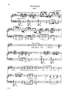 Соломон, HWV 67: What though I trace each herb and flower. Aria for alto/countertenor by Георг Фридрих Гендель